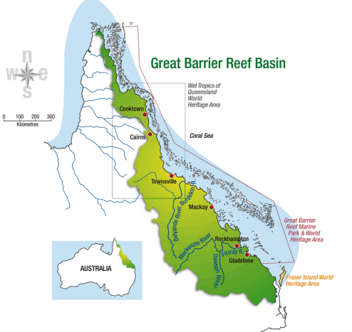 great barrier reef basin map